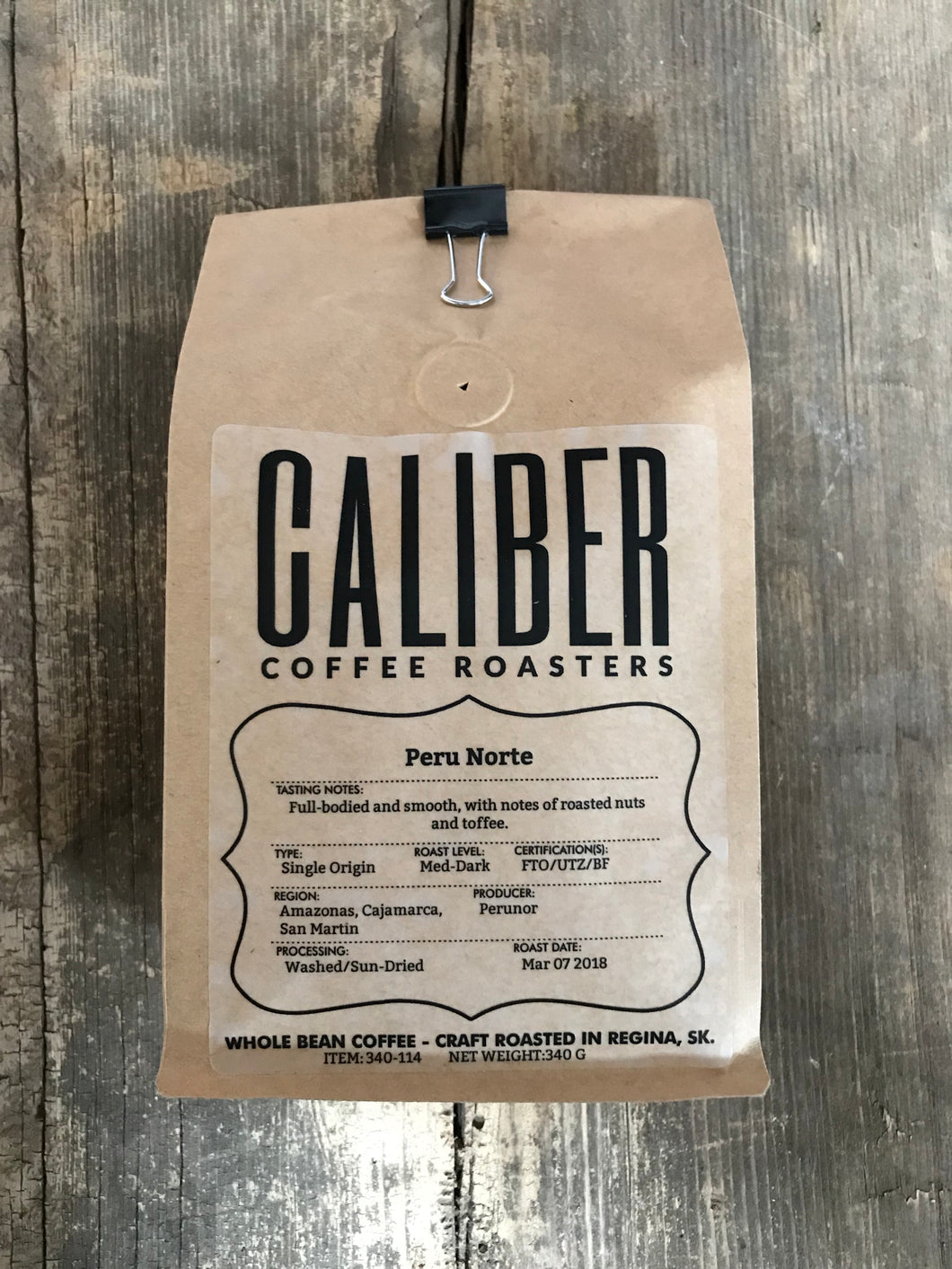 Caliber Coffee Peru Norte 340g