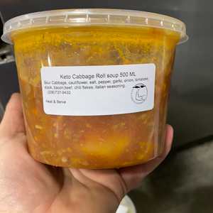Keto creations Keto Cabbage roll soup