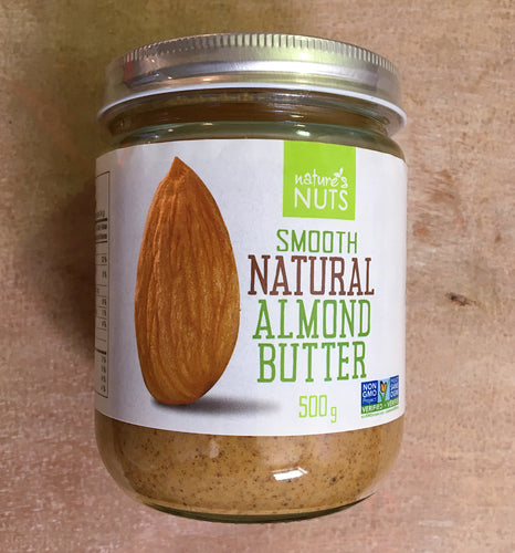 Nature's Nut Natural Smooth Almond Butter (500g)