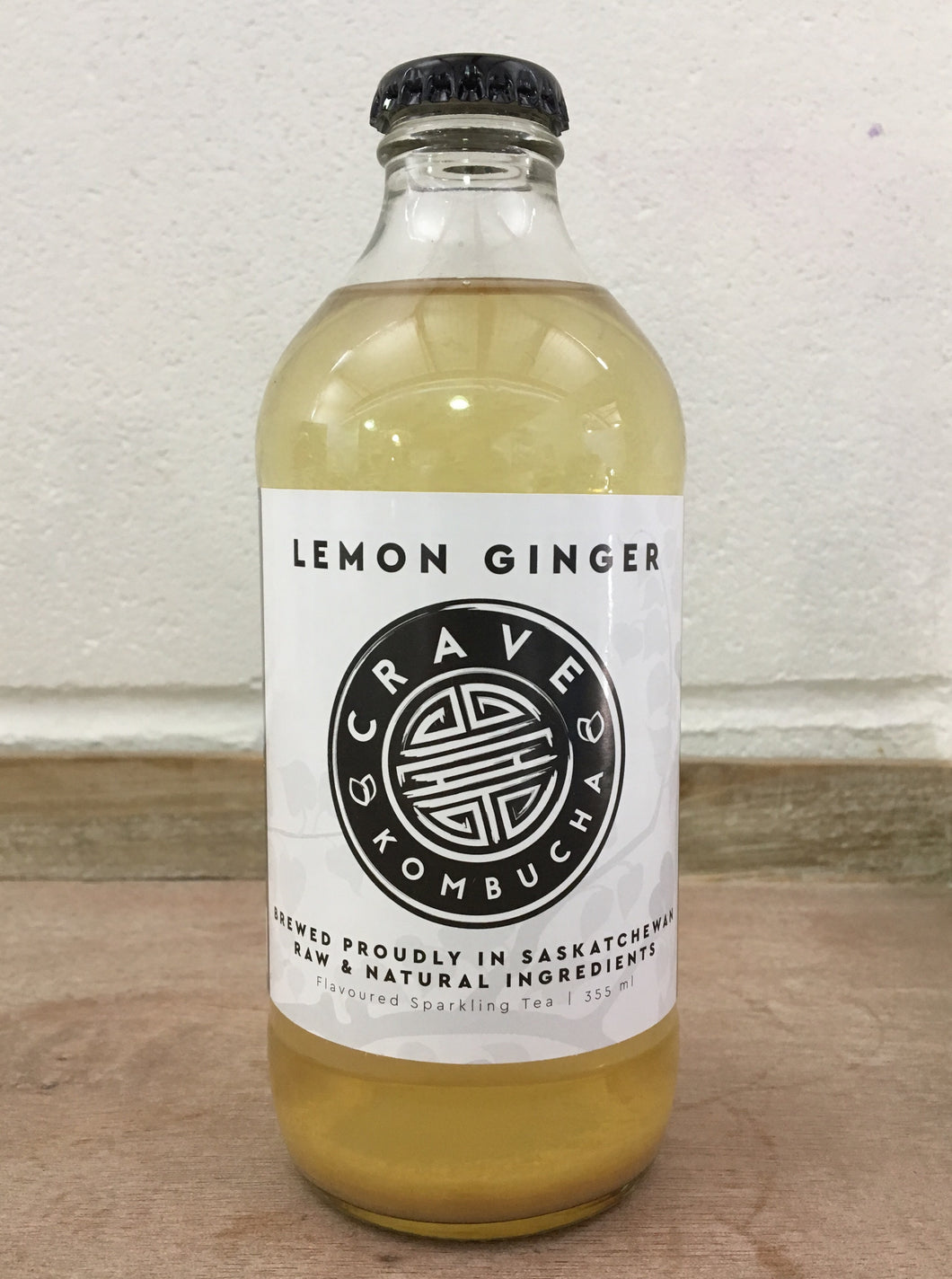 Crave Kombucha Lemon Ginger 355ml
