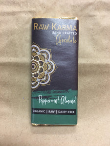 Raw Karma Organic Chocolate Peppermint Almond Bar (50g)