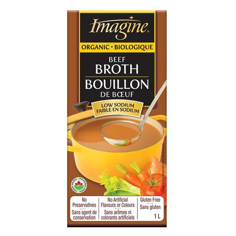 Imagine Organic Low Sodium Beef Broth (1L)