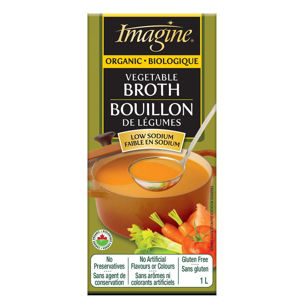 Imagine Organic Low Sodium Vegetable Broth (1L)