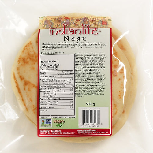 IndianLife Plain Naan Bread (500g)