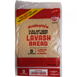 Joseph's Flax, Oat Bran and Whole Wheat Lavash Bread (4 flatbreads)