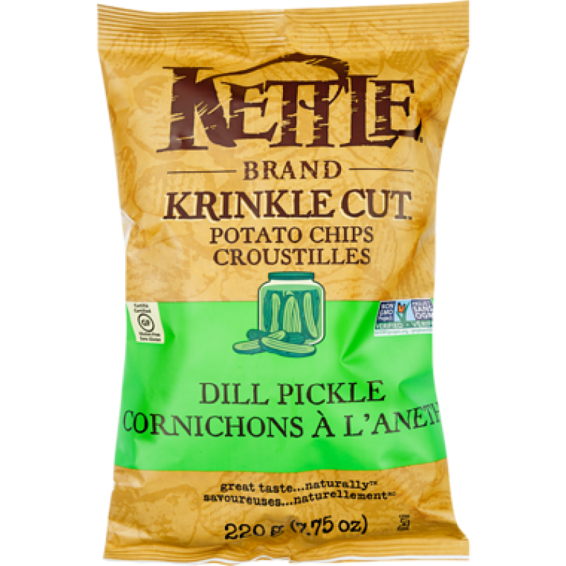 Kettle Chips Crinkle Cut Dill Pickle 220g