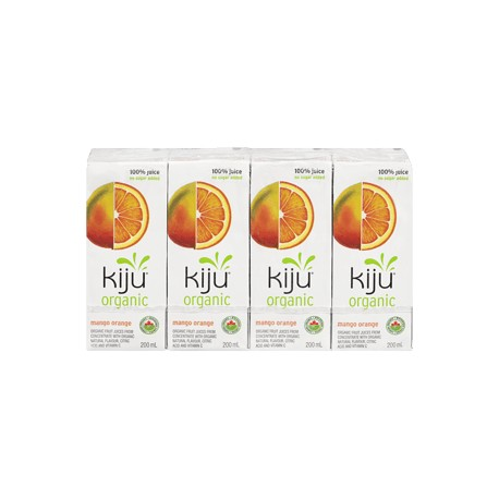 Kiju Organic Mango Orange Juice Boxes (4x200ml)
