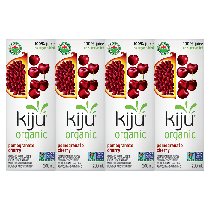 Kiju Organic Pomegranate Cherry Juice Boxes (4x200ml)