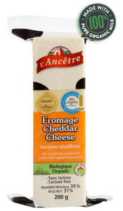 L'Ancetre Medium Cheddar Cheese (200g)