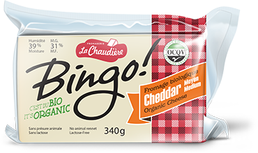 La Chaudiere Medium Cheddar Cheese 340g