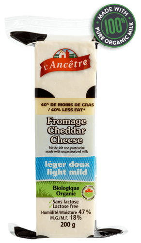 L'Ancetre Light Mild Cheddar Cheese (200g)