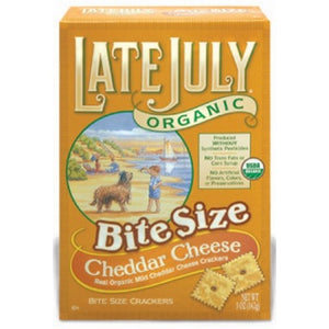 Late July Organic Bite Size Cheddar Cheese Crackers (142g)