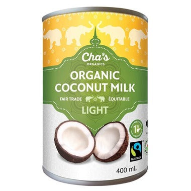 Cha's Organic Light Coconut Milk 400ml