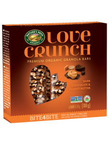 Nature's Path Love Crunch Dark Chocolate & Peanut Butter Granola Bars (6 Bars)