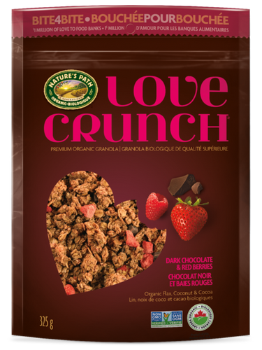 Nature's Path Love Crunch Dark Chocolate & Red Berries Granola (325g)