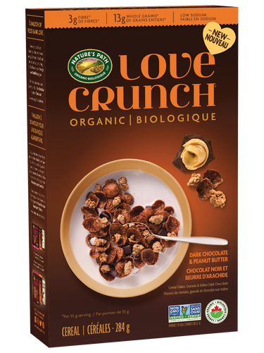 Love Crunch Cereal Flakes Dark Chocolate & Peanut Butter (284g)