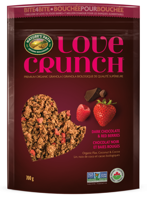 Nature's Path Love Crunch Dark Chocolate & Red Berries Granola (700g)
