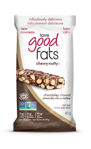 Love Good Fats Chewy-Nutty Chocolatey Almond Bar 40g