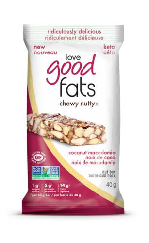 Love Good Fats Chewy-Nutty Coconut Macadamia Bar 40g