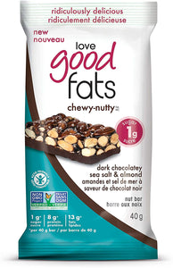 Love Good Fats Chewy-Nutty Dark Chocolatey Sea Salt & Almonds 40g