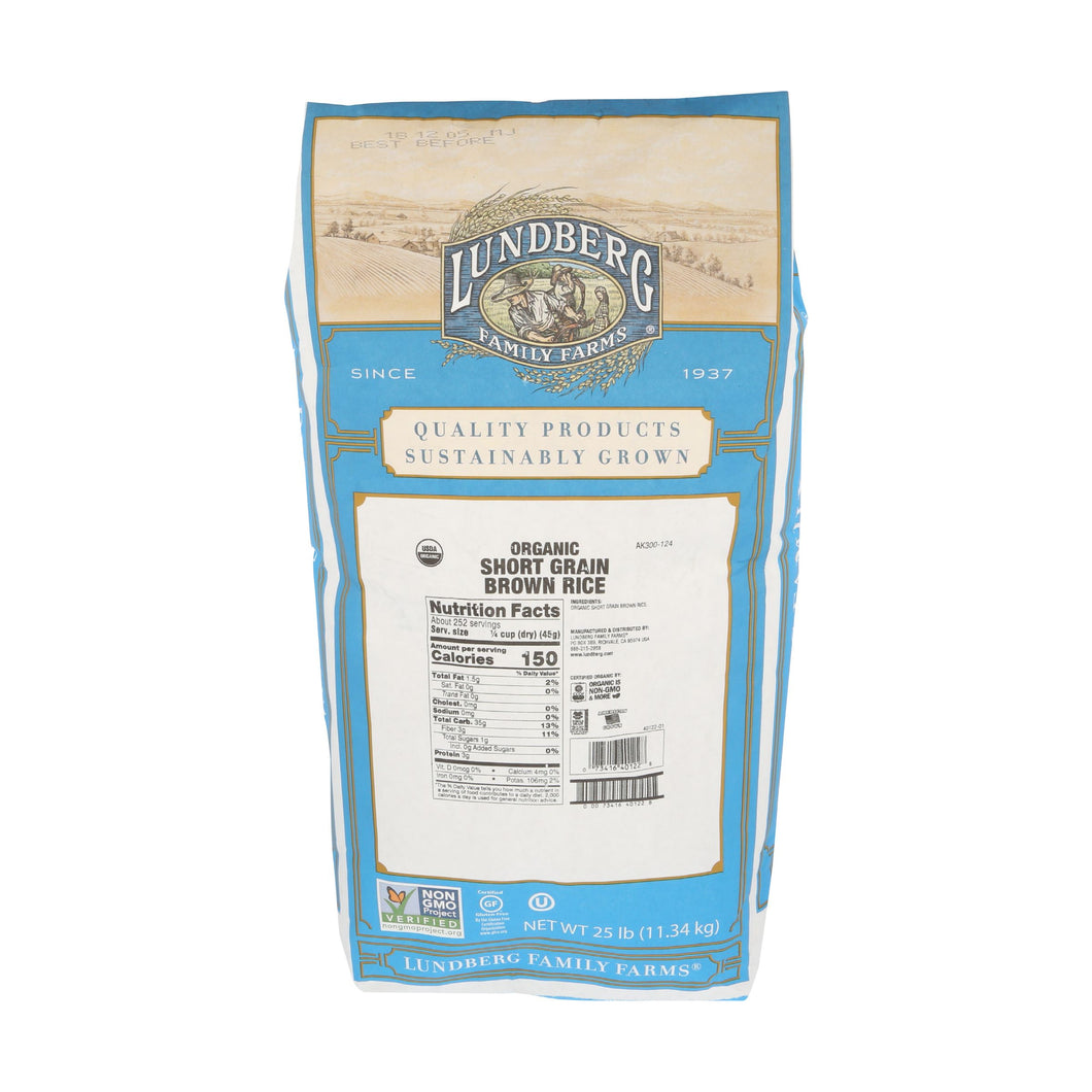 Short Grain Brown Rice, 25lb