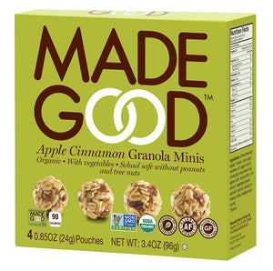 MadeGood Apple Cinnamon Granola Minis (4 Packs)
