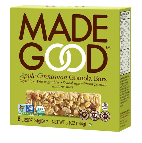 MadeGood Apple Cinnamon Granola Bars (5 Bars)