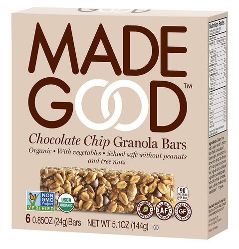 MadeGood Chocolate Chip Granola Bars (5 Bars)