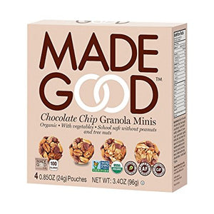 MadeGood Chocolate Chip Granola Minis (4 Packs)