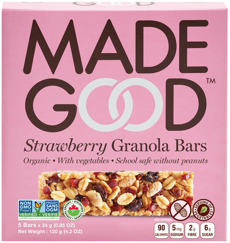 MadeGood Strawberry Granola Bars (5 Bars)