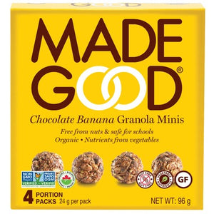 MadeGood Chocolate Banana Granola Minis (4 Packs)