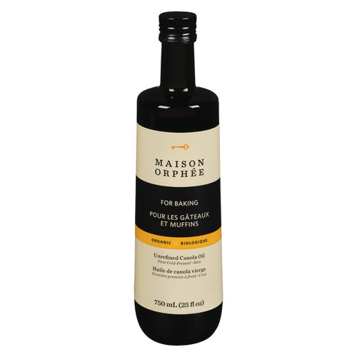 Maison Orphee Organic Unrefined Canola Oil 750ml