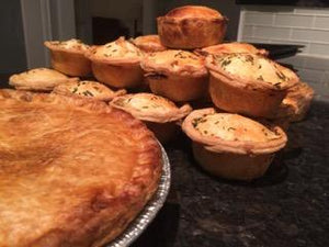 Chef Malcolm's Chicken, Leek, Bacon and Walnut Pie (Single Serve)