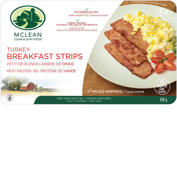 McLean Turkey Breakfast Strips (250g)
