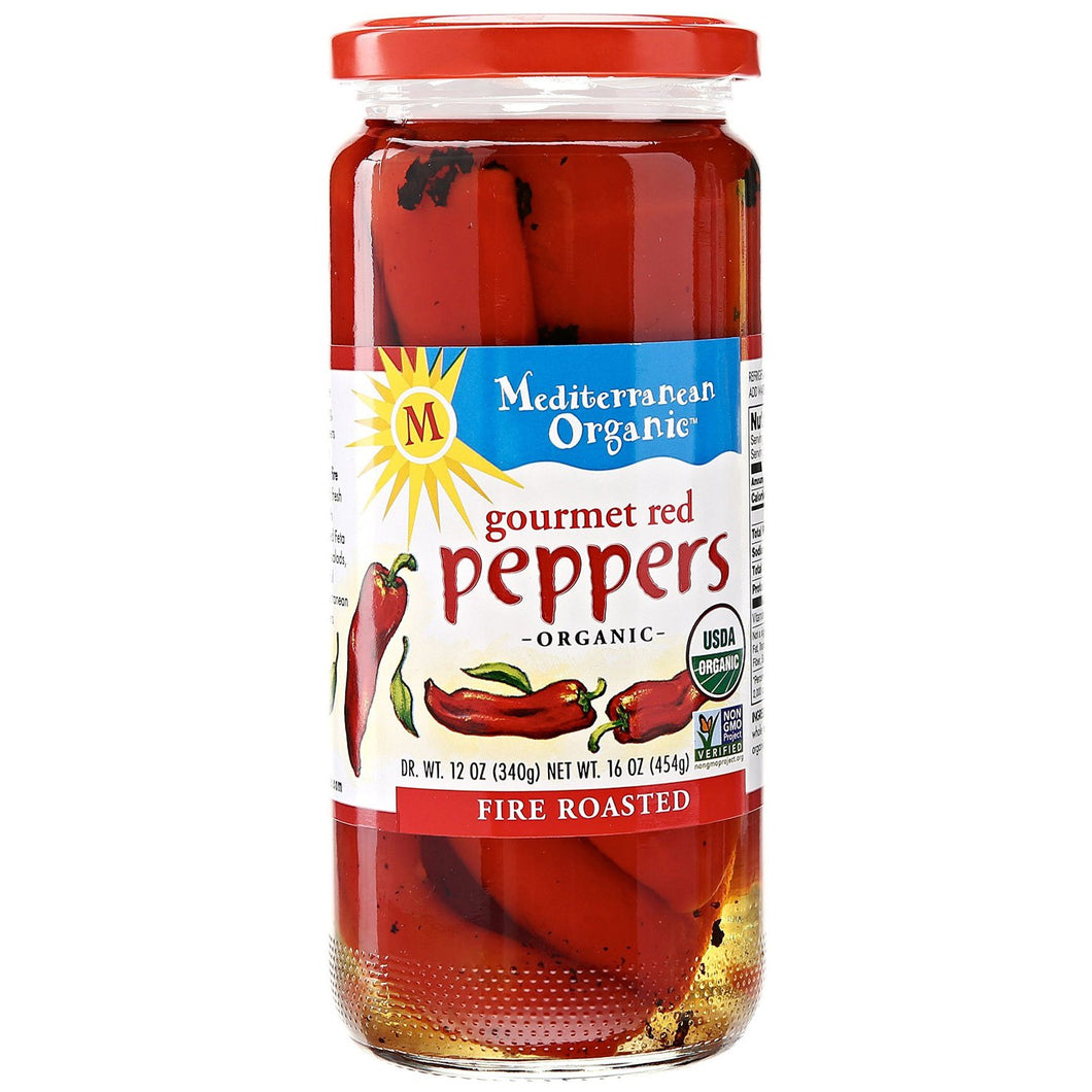 Mediterranean Organic Roasted Red Peppers (500ml)