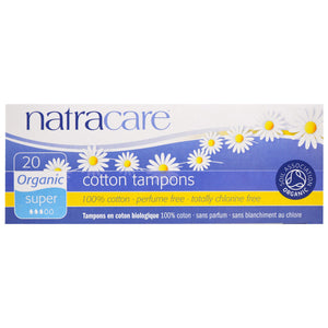 Natracare Cotton Super Tampons (20 Pack)