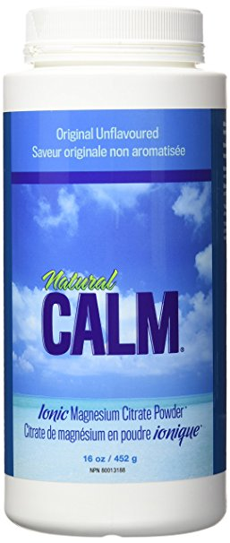 Natural Calm Magnesium Citrate Powder Unflavoured (16oz)