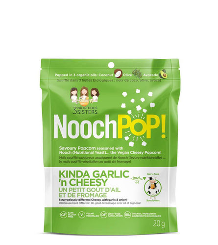 NoochPOP! Kinda Garlic 'n Cheesy Popcorn (20g)