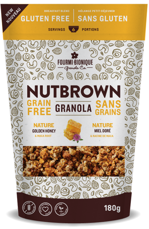 NutBrown Granola Nature Golden Honey 180g