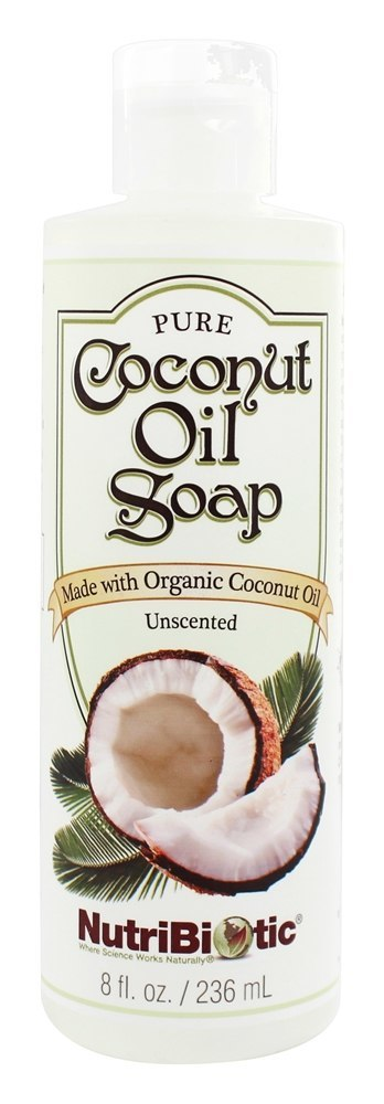 NutriBiotic Pure Coconut Oil Unscented Hand Soap (236ml)