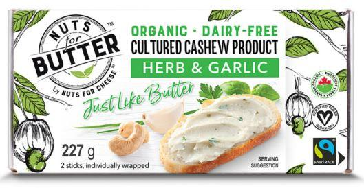 Nuts For Butter Cultured Cashew Herb & Garlic (227g)
