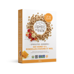 One Degree Sprouted Oat Honey O's Cereal (283g)