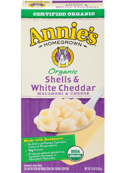Annie's Homegrown Organic Shells and White Cheddar 170g