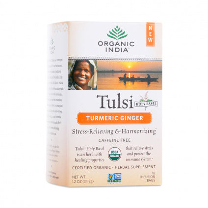Organic India Tulsi Turmeric & Ginger Tea (18 Bags)