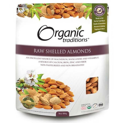 Organic Traditions Raw Shelled Almonds (454g)