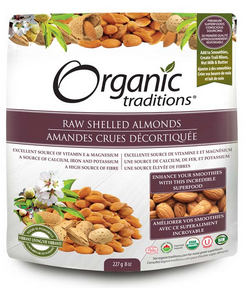 Organic Traditions Raw Shelled Almonds (227g)