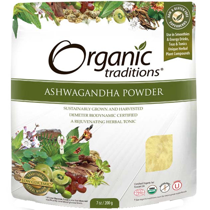 Organic Traditions Ashwagandha Powder (200g)