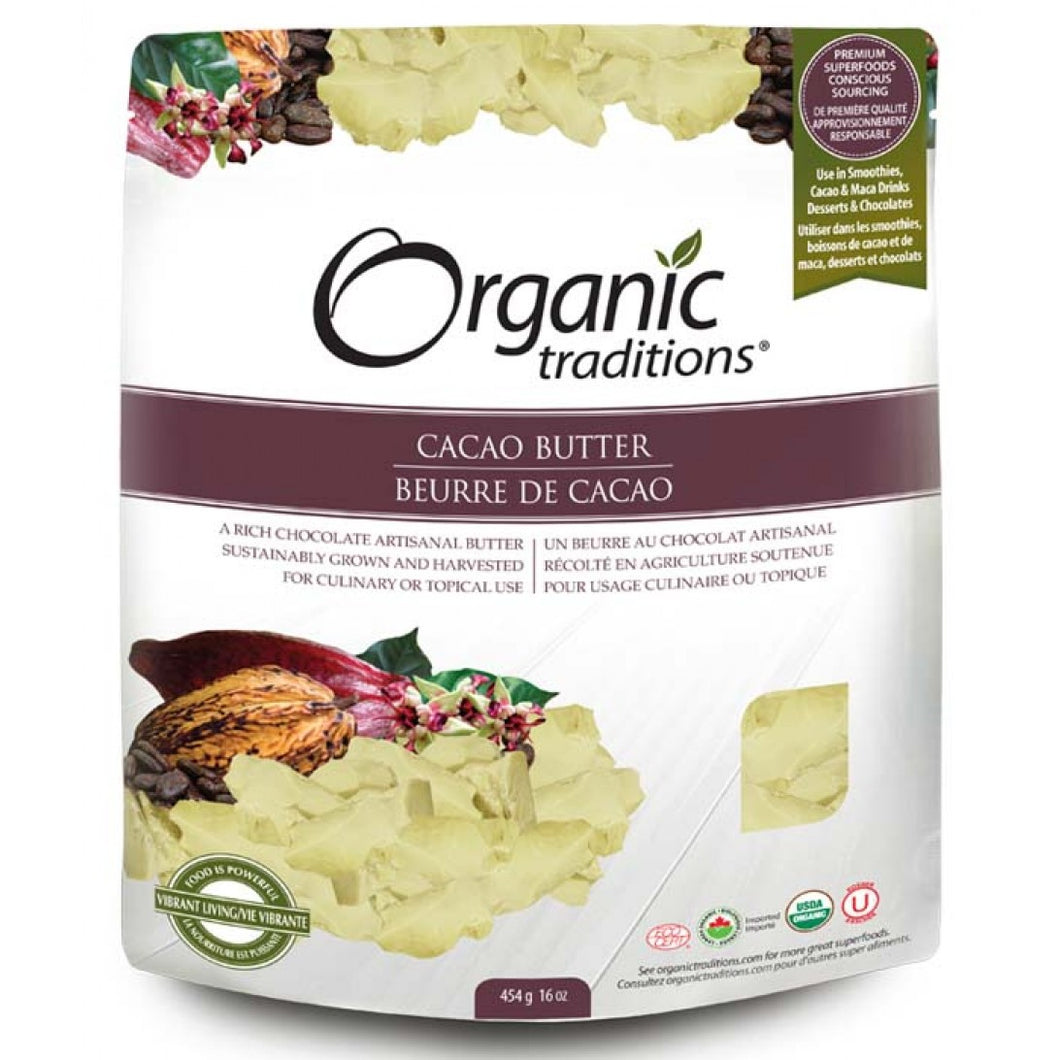 Organic Traditions Cacao Butter (454g)