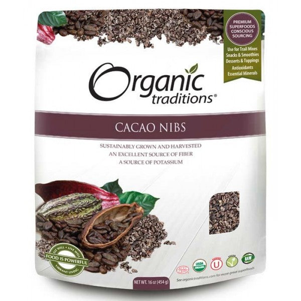 Organic Traditions Cacao Nibs (454g)