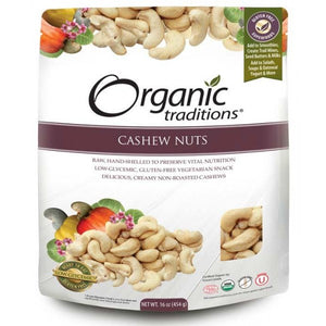 Organic Traditions Cashew Nuts (454g)